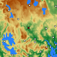 Nearby Forecast Locations - Ouse - Carte
