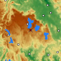 Nearby Forecast Locations - Butlers Gorge - Carte
