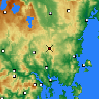 Nearby Forecast Locations - Tunnak - Carte