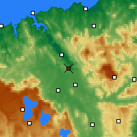 Nearby Forecast Locations - Launceston - Carte
