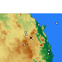 Nearby Forecast Locations - Kairi - Carte