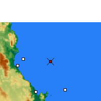 Nearby Forecast Locations - Norman Reef - Carte