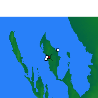 Nearby Forecast Locations - Shark Bay (Aéroport) - Carte