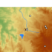 Nearby Forecast Locations - Inverell - Carte