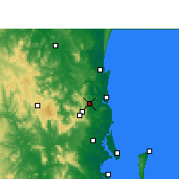 Nearby Forecast Locations - Nambour - Carte