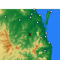Nearby Forecast Locations - Beaudesert - Carte