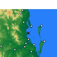 Nearby Forecast Locations - Redcliffe - Carte