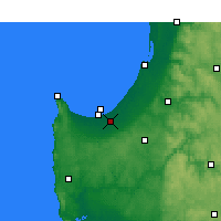Nearby Forecast Locations - Busselton - Carte