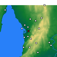 Nearby Forecast Locations - Parafield - Carte