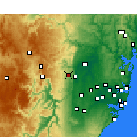 Nearby Forecast Locations - Springwood - Carte