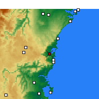 Nearby Forecast Locations - Wollongong - Carte