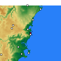 Nearby Forecast Locations - Kiama - Carte