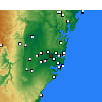 Nearby Forecast Locations - Homebush - Carte