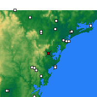 Nearby Forecast Locations - Middle Head - Carte