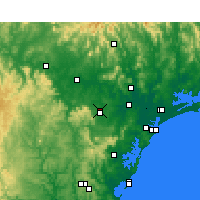 Nearby Forecast Locations - Cessnock - Carte