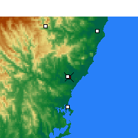 Nearby Forecast Locations - Taree - Carte