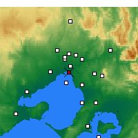Nearby Forecast Locations - St Kilda (Melbourne) - Carte