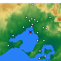 Nearby Forecast Locations - Fawkner Beacon - Carte