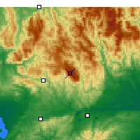 Nearby Forecast Locations - Mont Baw Baw - Carte