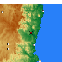 Nearby Forecast Locations - Bega - Carte