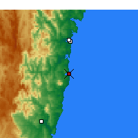 Nearby Forecast Locations - Narooma - Carte