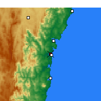 Nearby Forecast Locations - Moruya Aéroport - Carte