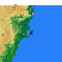 Nearby Forecast Locations - Jervis Bay - Carte
