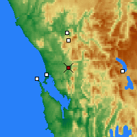 Nearby Forecast Locations - Queenstown - Carte