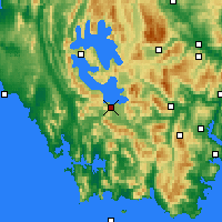 Nearby Forecast Locations - Scotts Peak - Carte