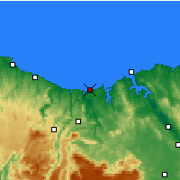 Nearby Forecast Locations - Devonport (Aéroport) - Carte