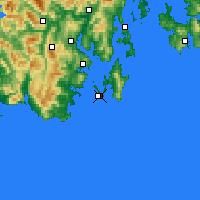 Nearby Forecast Locations - Cape Bruny - Carte