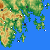 Nearby Forecast Locations - Bull Bay - Carte
