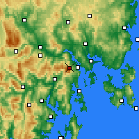Nearby Forecast Locations - Mt Wellington - Carte