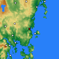 Nearby Forecast Locations - Orford - Carte