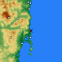 Nearby Forecast Locations - Bicheno - Carte