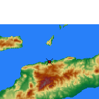 Nearby Forecast Locations - Dili - Carte