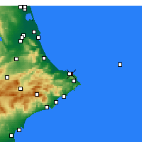 Nearby Forecast Locations - Dénia - Carte
