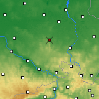 Nearby Forecast Locations - Kamenz - Carte