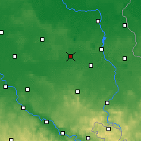Nearby Forecast Locations - Senftenberg - Carte