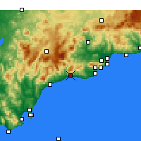 Nearby Forecast Locations - Marbella - Carte