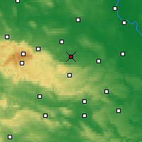 Nearby Forecast Locations - Quedlinbourg - Carte