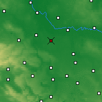 Nearby Forecast Locations - Köthen - Carte