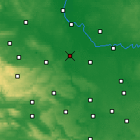 Nearby Forecast Locations - Bernbourg - Carte