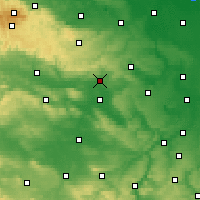 Nearby Forecast Locations - Sangerhausen - Carte