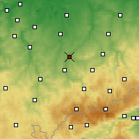 Nearby Forecast Locations - Glauchau - Carte