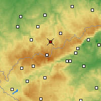 Nearby Forecast Locations - Annaberg-Buchholz - Carte