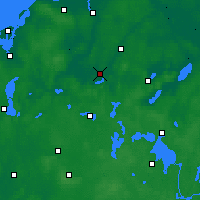 Nearby Forecast Locations - Güstrow - Carte