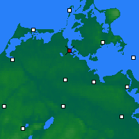Nearby Forecast Locations - Stralsund - Carte
