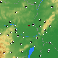 Nearby Forecast Locations - Gänserndorf - Carte