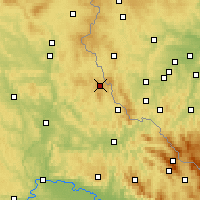 Nearby Forecast Locations - Schönsee - Carte